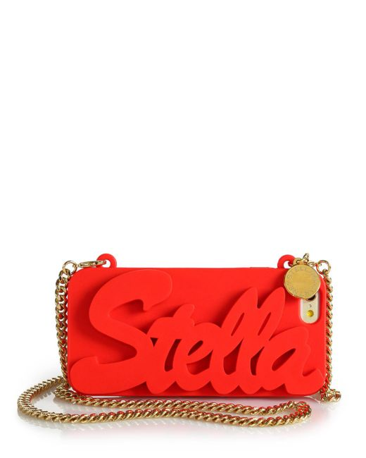 Stella McCartney | Red Logo-embossed Silicone Chain Iphone 6 Case | Lyst