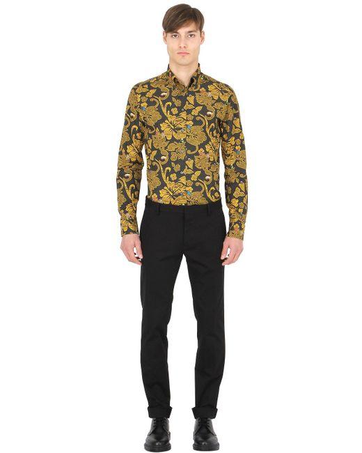 Eton Of Sweden Slim Printed Cotton Button Down Shirt In