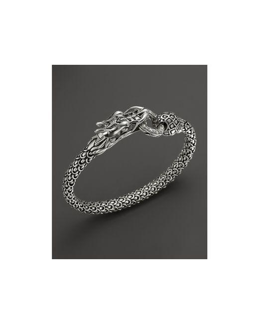 John Hardy | Metallic Naga Silver Dragon Bracelet With Diamond Pave, .45 Ct. T.w. | Lyst