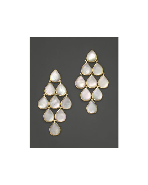 Ippolita | Metallic 18k Polished Rock Candy Cascade Earrings In Mother-of-pearl | Lyst