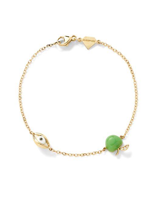 Alison Lou   Green 14k Apple Of My Eye Bracelet   Lyst