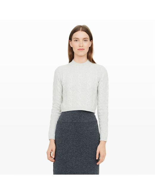 Club Monaco | Gray Alexios Cable-knit Sweater | Lyst