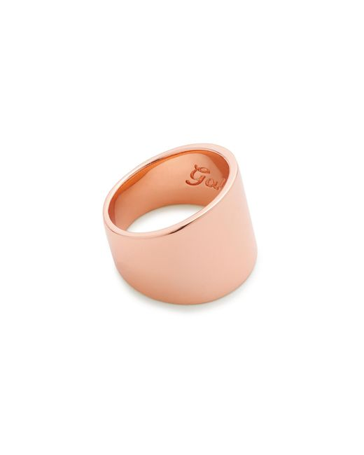 J.Crew | Pink Gabriella Artigas 14k Gold Cigar Band Ring | Lyst