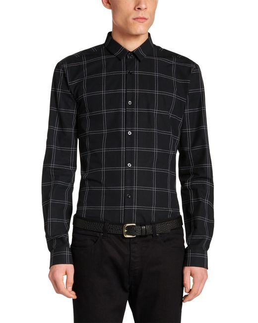 Hugo Ero Slim Fit Cotton Button Down Shirt In Black