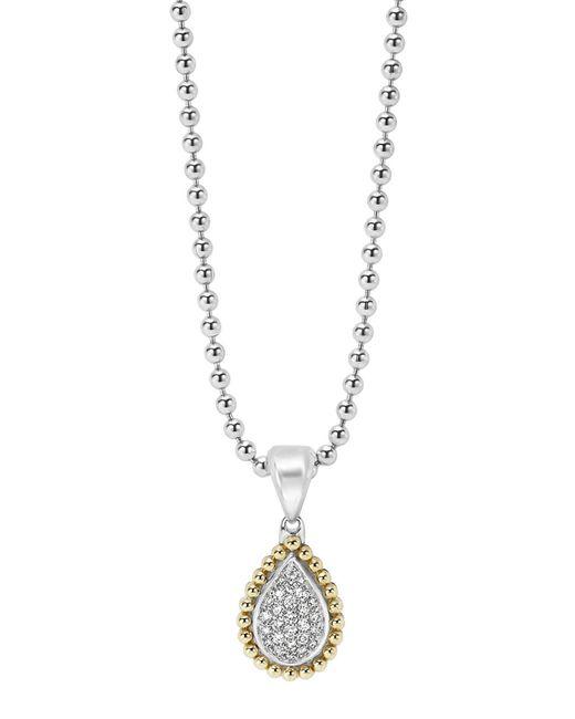 Lagos | Metallic Diamond Caviar Teardrop Pendant | Lyst