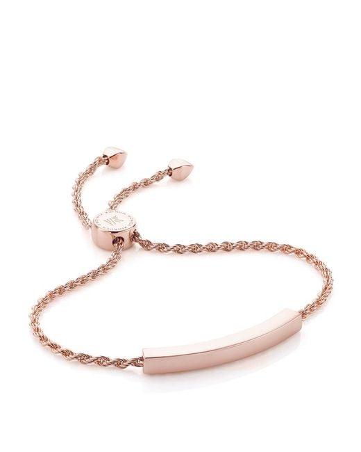 Monica Vinader   Metallic Linear Diamond Toggle Chain Bracelet   Lyst