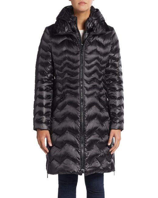 Dawn Levy   Black Karen Chevron-quilted Down Puffer Coat   Lyst