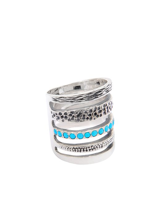 Pamela Love | Blue Single Cage Turquoise Ring | Lyst
