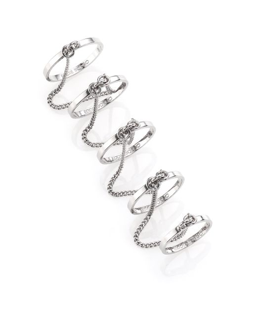 Eddie Borgo | Metallic Thin Five-Finger Chained Band Ring | Lyst