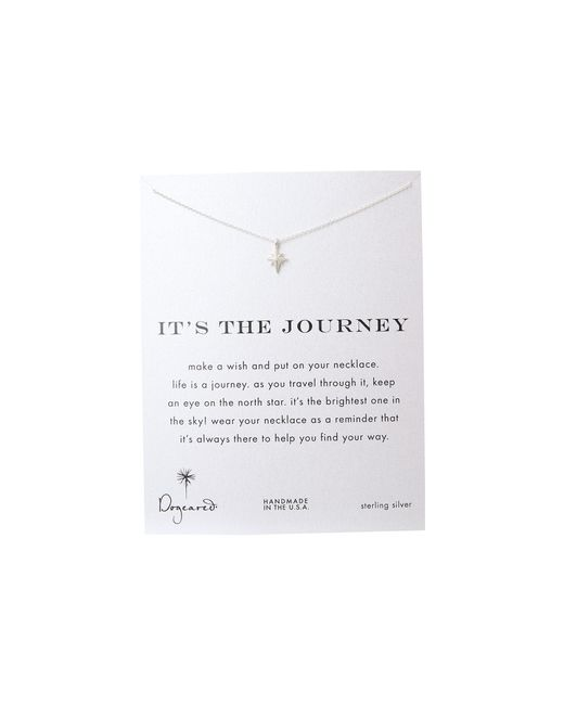 Dogeared | Metallic It's The Journey Necklace 16 Inch | Lyst