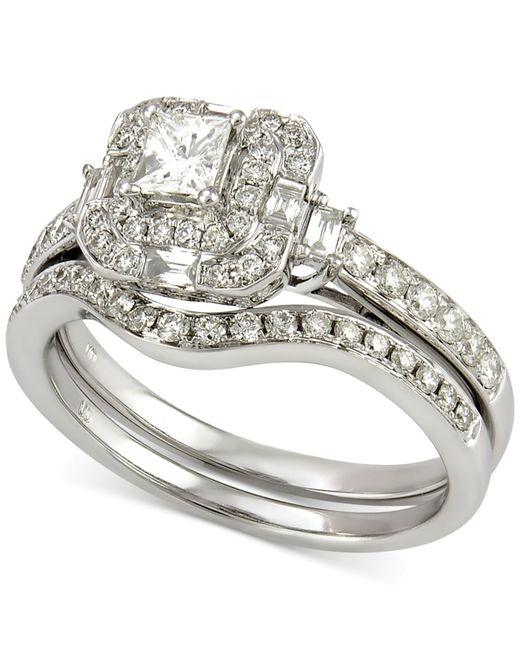 Macy s Diamond Bridal Set 7 8 Ct T w In 14k White Gold in Silver Whi