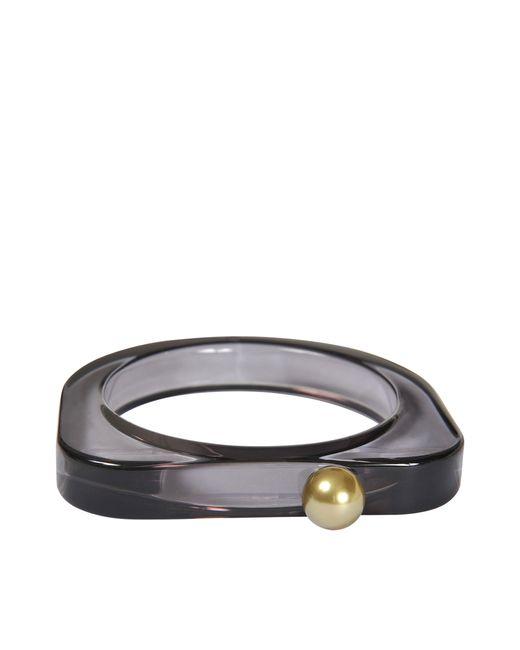 MM6 by Maison Martin Margiela | Black Plexiglass Bracelet | Lyst