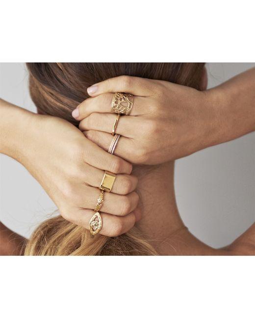 Odette New York | Metallic Single Ojos Ring | Lyst