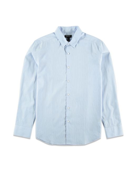 Forever 21 | Blue Classic Cotton Shirt for Men | Lyst