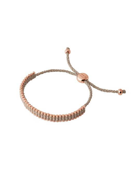 Links of London | Pink Mini Taupe Friendship Bracelet | Lyst