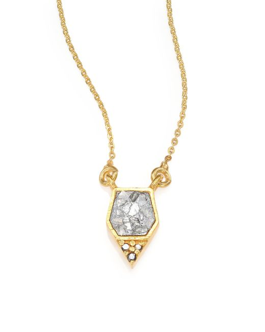Shana Gulati | Metallic Charushila Bijou Black Diamond Pendant Necklace | Lyst