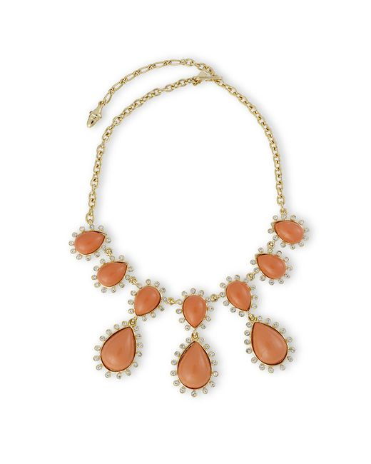 Kenneth Jay Lane | Pink Coral Drop Necklace | Lyst