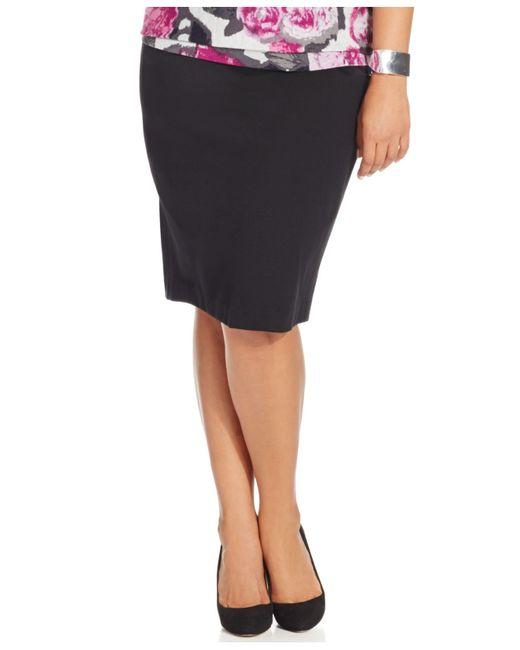 inc international concepts black plus size high waist