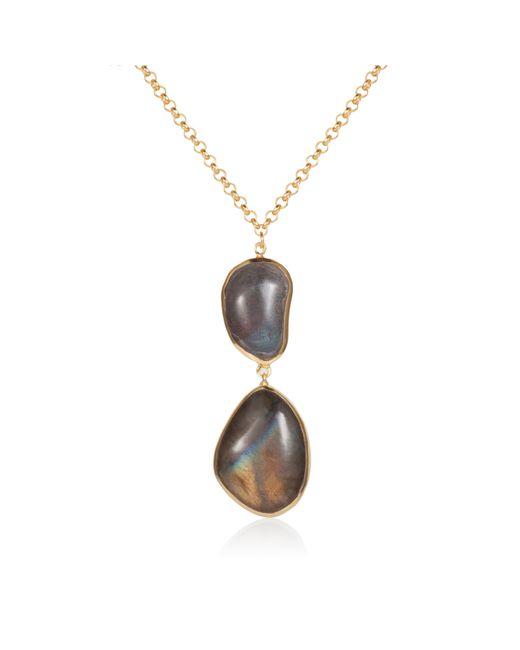 Caroline Creba | Metallic 18ct Gold Plated Sterling Silver 14ct Labradorite | Lyst