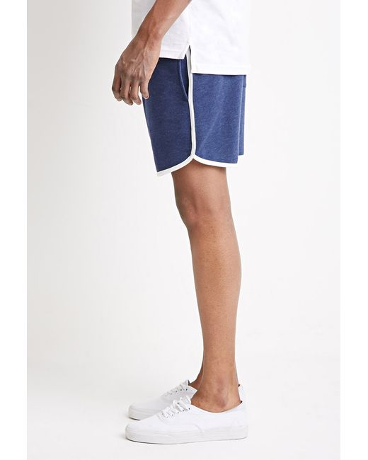 Forever 21 | Blue Contrast-trimmed Drawstring Sweatshorts for Men | Lyst