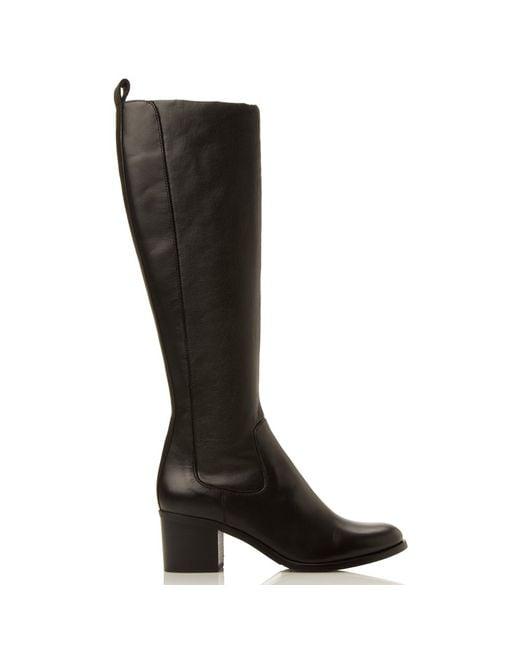 dune black teyla knee high boots lyst