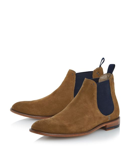 oliver sweeney brown silsden brogue toe chelsea boots for men lyst. Black Bedroom Furniture Sets. Home Design Ideas