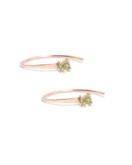 Melissa Joy Manning | Metallic Mini Wishbone Earrings With Peridot | Lyst