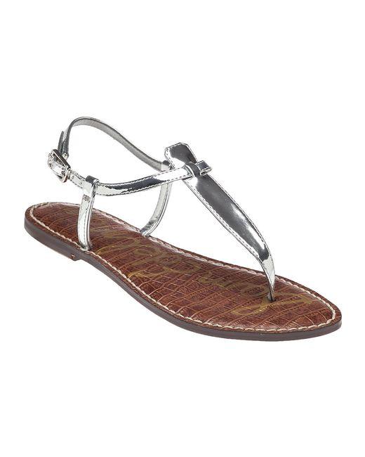 Sam Edelman | Metallic Gigi Leather Thong Sandals | Lyst