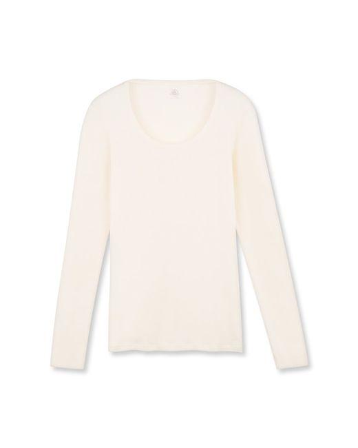 Petit Bateau | Natural Women's Long-sleeved Light Cotton Tee | Lyst