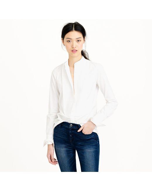 J.Crew | White Thomas Mason Mandarin-collar Tuxedo Shirt | Lyst
