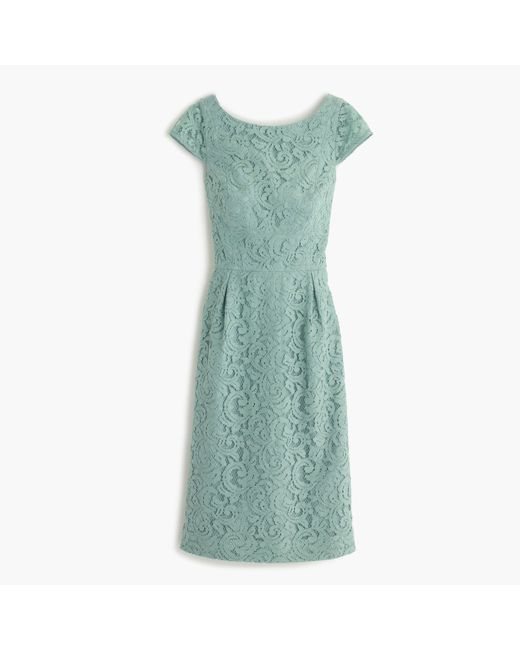 J.Crew | Green Elsa Dress In Leavers Lace | Lyst