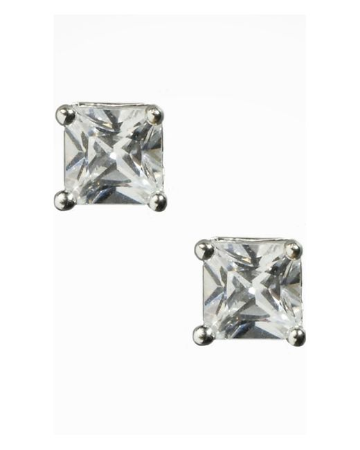 Express | Metallic Small Cubic Zirconia Stud Earrings | Lyst