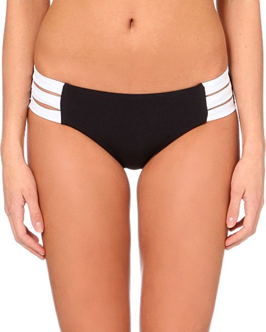 Seafolly | Black Block Party Hipster Bikini Bottoms | Lyst