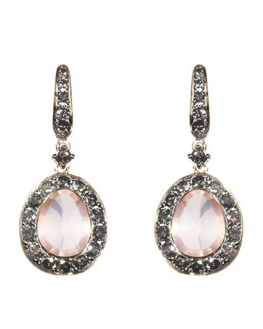 Annoushka | Pink Dusty Diamonds Rose Quartz Earrings | Lyst