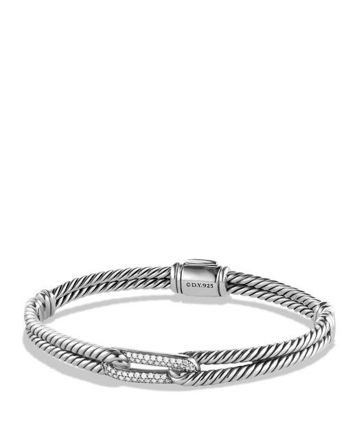 David Yurman   Metallic Petite Pavé Labyrinth Mini Loop Bracelet With Diamonds   Lyst