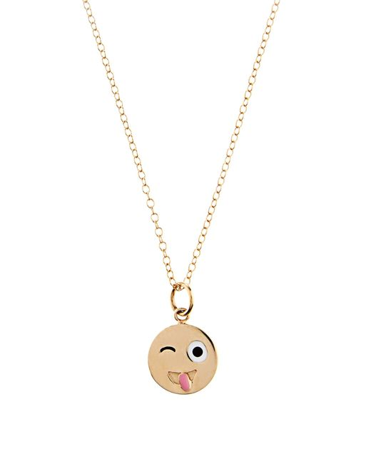 Alison Lou | Enamel & Yellow-gold Crazy Face Necklace | Lyst