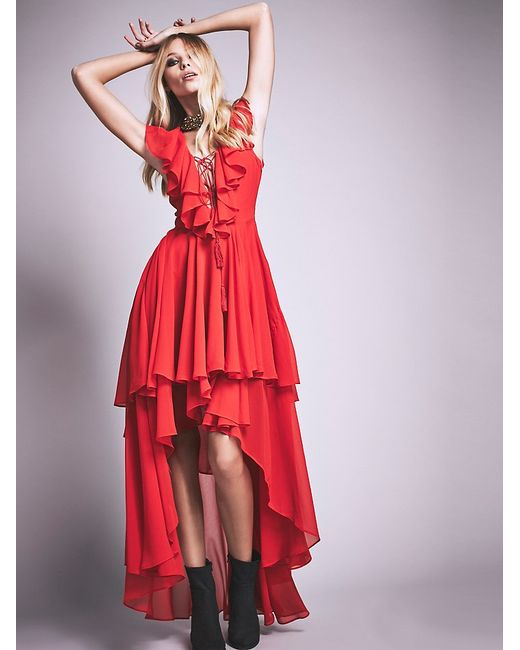 Free People | Red Goddess In Rome Dress | Lyst