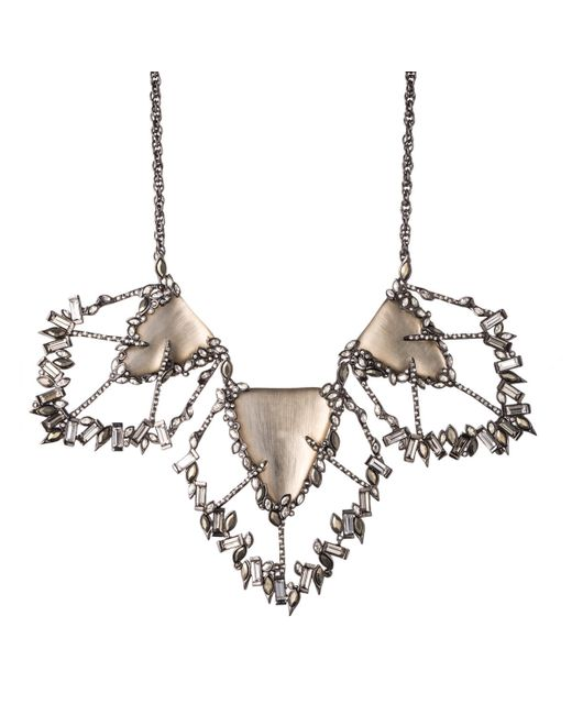 Alexis Bittar | Gray Cubist Baguette Cluster Large Bib Necklace You Might Also Like | Lyst