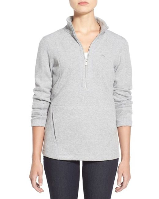 Tommy Bahama | Gray 'aruba' Half Zip Sweatshirt | Lyst