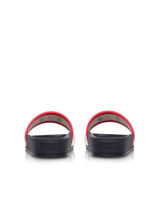 Hunter | Pink Rubber Slider Sandals, Women's, Size: Eur 39 / 6 Uk Women, Black | Lyst