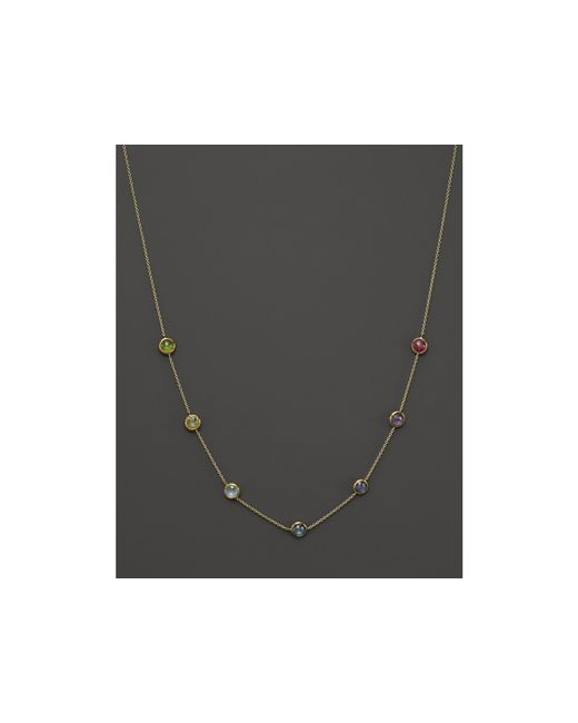 "Ippolita | Metallic Lollipop 18k Gold Mini Gelato Round Station Necklace, 16"" | Lyst"