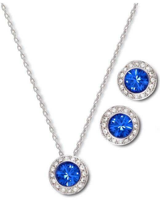 Swarovski Angelic Sapphire Earrings And Pendant Set in ...