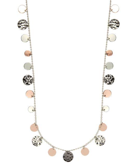 Nine West | Metallic Tri Tone Strandage Long Necklace | Lyst