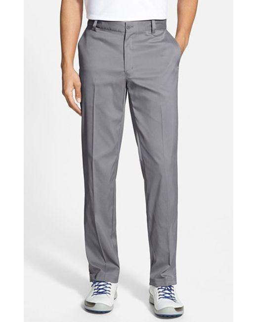Nike | Gray Flat Front Dri-fit Tech Golf Pants for Men | Lyst