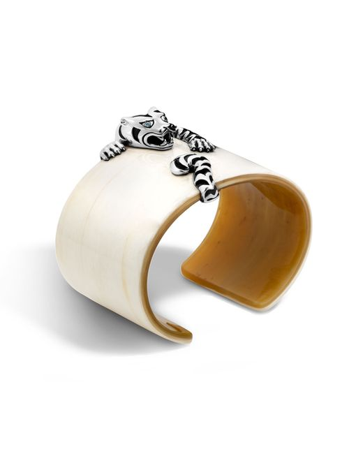 John Hardy | White Macan Cuff With Horn | Lyst