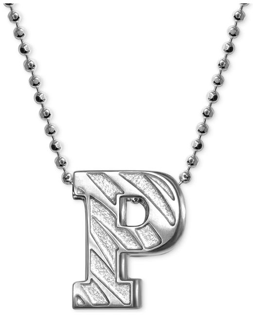 Alex Woo | Metallic Little Collegiate By Princeton Pendant Necklace In Sterling Silver | Lyst