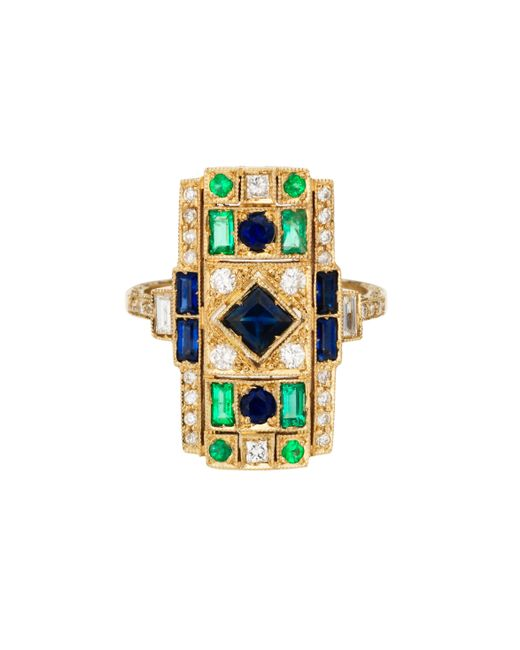 Sabine G | Blue Harlequin Sapphire Rectangle Ring | Lyst