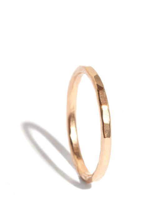 Melissa Joy Manning | Metallic 1.5mm Hammered Gold Ring | Lyst