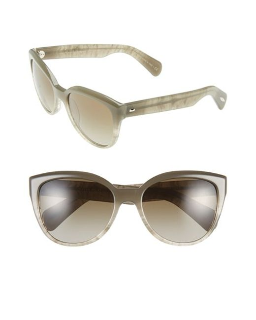Oliver Peoples | Gray 'abrie' 58mm Cat Eye Sunglasses | Lyst