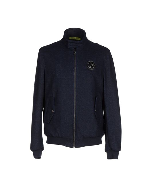 Versace Jeans | Blue Jacket for Men | Lyst